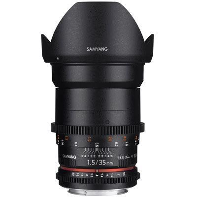 Samyang 35mm T1.5 AS UMC II VDSLR Lens - Nikon Fit