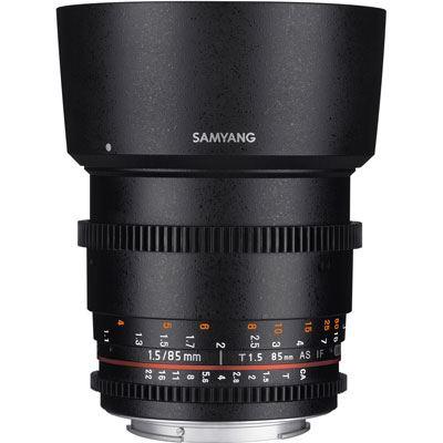 Samyang 85mm T1.5 AS IF UMC II Video Lens - Sony FE Mount