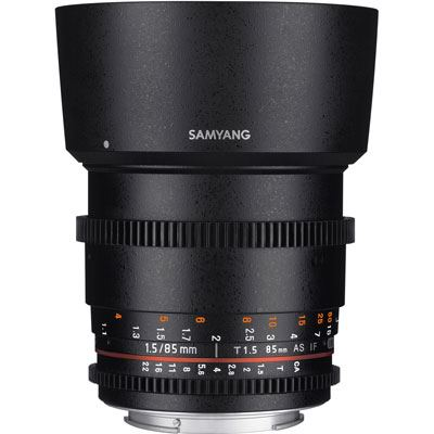 Samyang 85mm T1.5 AS IF UMC II Video Lens – Micro Four Thirds Fit