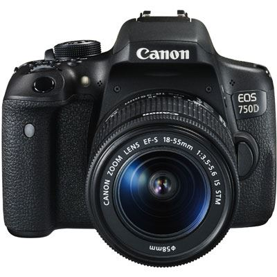Canon EOS 750D Digital SLR Camera with 1855mm Lens
