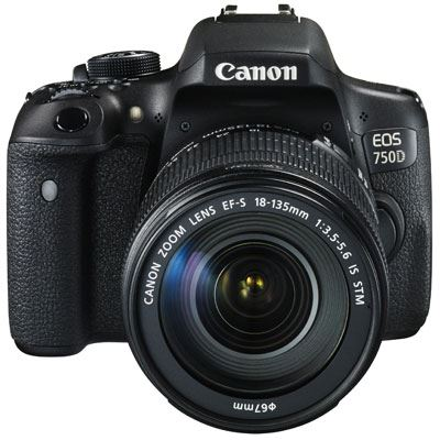 Canon EOS 750D Digital SLR Camera with 18-135mm Lens