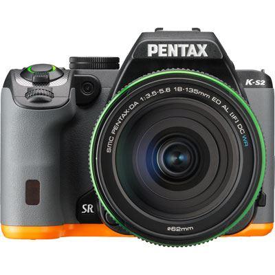 Used Pentax K-S2 Digital SLR Camera with 18-135mm WR Lens - Black-Orange
