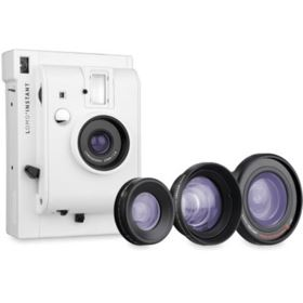 Lomography LomoInstant Film Camera with 3 Lenses - White