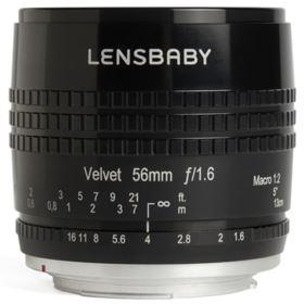Lensbaby Velvet 56mm f1.6 Lens - Canon Fit - Black