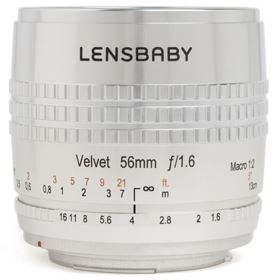 Lensbaby Velvet 56mm f1.6 Lens - Canon EF Fit - Silver Edition