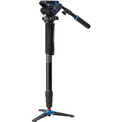 Benro A48TD Video Monopod Kit with S6 Head