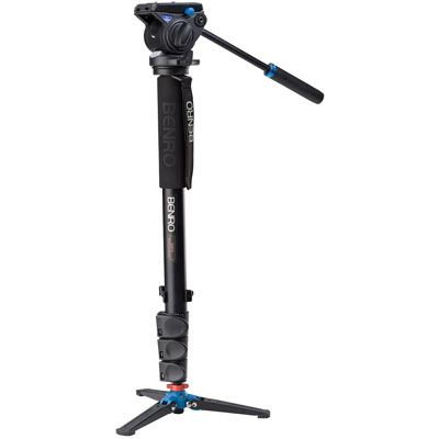 Benro A48FD Video Monopod Kit with S4 Head