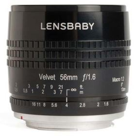 Lensbaby Velvet 56mm f1.6 Lens - Fujifilm X Fit - Black