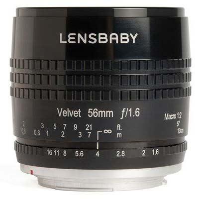 Lensbaby Velvet 56mm f1.6 Lens - Fujifilm X Fit - Black