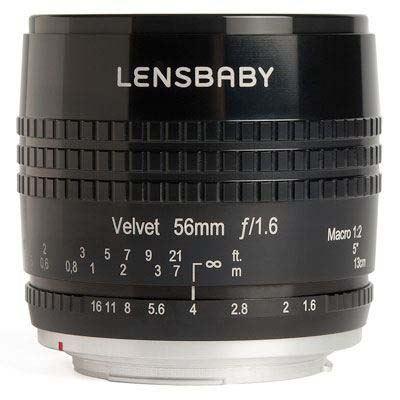 Image of Lensbaby Velvet 56mm f1.6 Lens - Micro Four Thirds Fit - Black