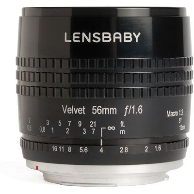 Image of Lensbaby Velvet 56mm f1.6 Lens - Samsung Fit - Black