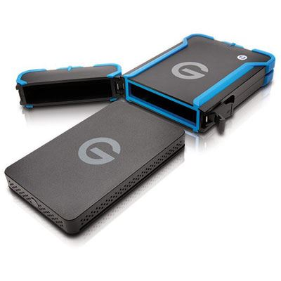 Image of G-Technology G-Drive ev ATC USB 3.0 and Thunderbolt Portable Hard Drive - 1TB