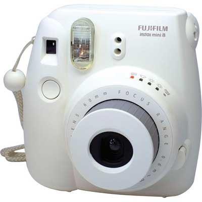 Image of Fuji Instax Mini 8 with 10 Shots - White