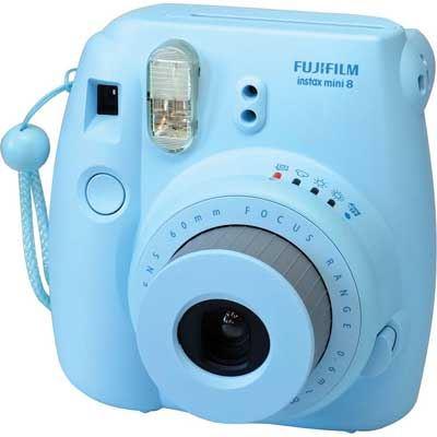 Image of Fuji Instax Mini 8 with 10 Shots - Blue