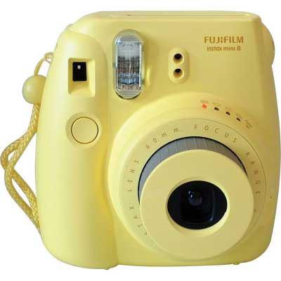 Image of Fuji Instax Mini 8 with 10 Shots - Yellow