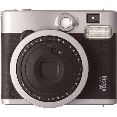 Image of Fuji Instax Mini 90 Instant Film Camera with 10 Shots - Black