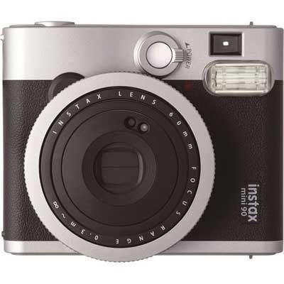 Fujifilm Instax Mini 90 Instant Film Camera with 10 Shots - Black