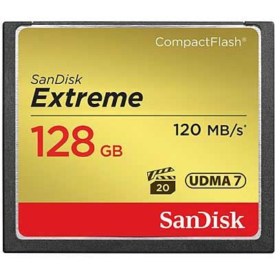 Image of SanDisk Extreme 128GB 120MB/Sec Compact Flash Card