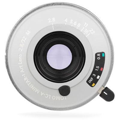 Image of Lomography 32mm f2.8 Minitar Art Lens Silver - Leica Fit