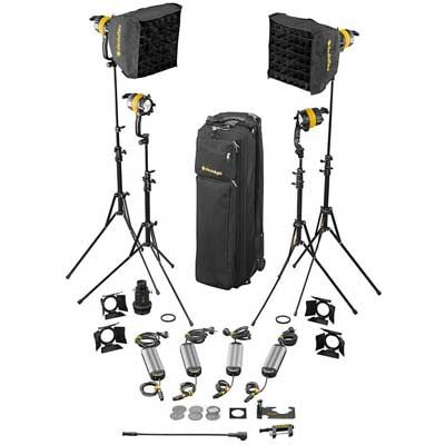 Image of Dedo 4 Head 40w DLED4.1 Bi Colour Kit with Projector