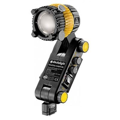 Dedo DLED2.1 20w Bi Colour Focusing LED Light Head with Integrated Ballast and Hot Shoe Mount