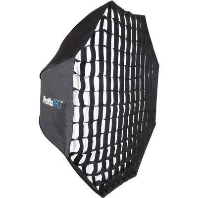 Phottix Pro EasyUp HD Umbrella Octa Softbox with Grid  80cm with Varos XS Umbrella Adapter