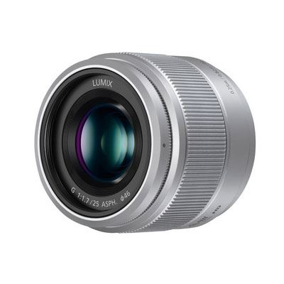 Panasonic 25mm f1.7 LUMIX G ASPH Silver Lens - Micro Four Thirds Fit
