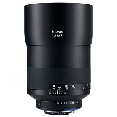 Zeiss 85mm f1.4 Milvus ZE Lens - Canon Fit