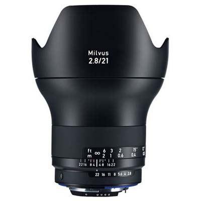 Zeiss 21mm f2.8 Milvus ZF.2 Lens - Nikon F Mount