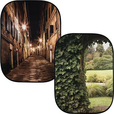 Lastolite Urban Collapsible Reversible Background 1.5 x 2.1m - Evening Street / Ivy Archway