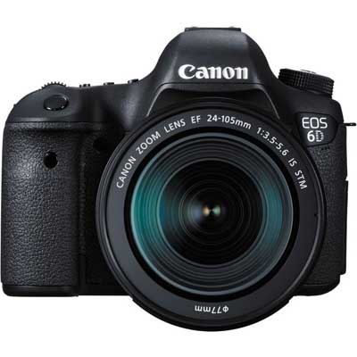 Canon EOS 6D Digital SLR Camera with 24105mm f3.55.6 IS STM Lens