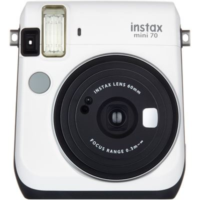 Image of Fuji Instax Mini 70 Instant Camera with 10 shots - White