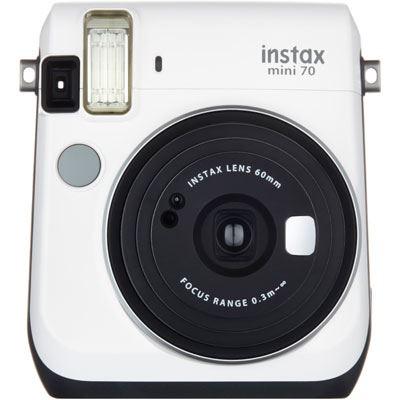 Fujifilm Instax Mini 70 Instant Camera with 10 shots - White