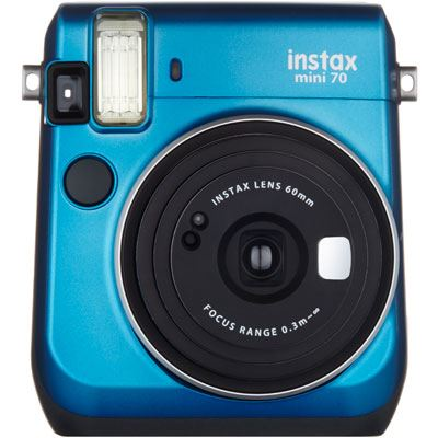 Image of Fuji Instax Mini 70 Instant Camera with 10 shots - Blue