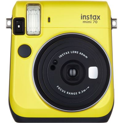 Image of Fuji Instax Mini 70 Instant Camera with 10 shots - Yellow