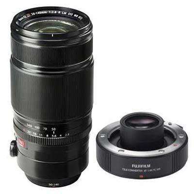 Fuji 50140mm f2.8 WR OIS XF Lens with Fuji 1.4X XF TC WR Teleconverter