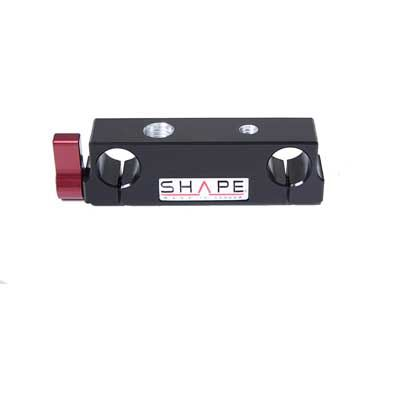 Shape 15mm Rod Block with ¼ and 3/8 Inch threads