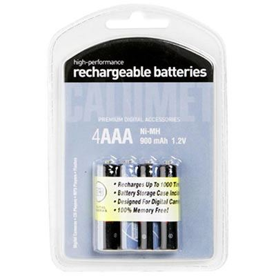 Image of Calumet 4x AAA 800mAh Rechargeable Batteries