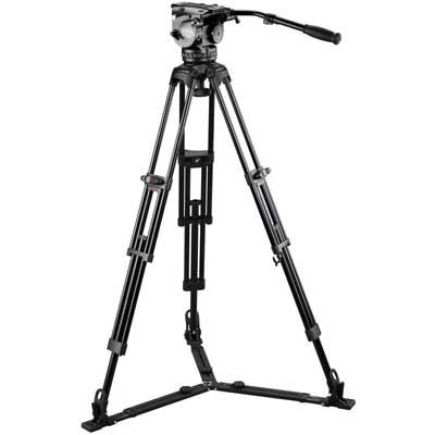 Used E-Image Tripod GH25 and GA102 with Adjustable Mid/Floor Spreader