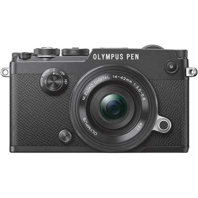 Olympus PEN-F with 14-42mm EZ ED Lens - Black/Black