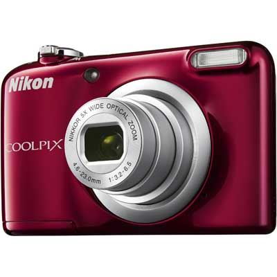 Nikon Coolpix A10 Digital Camera  Red