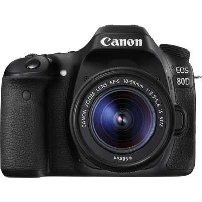 Canon EOS 80D Digital SLR Camera with 1855mm IS STM Lens
