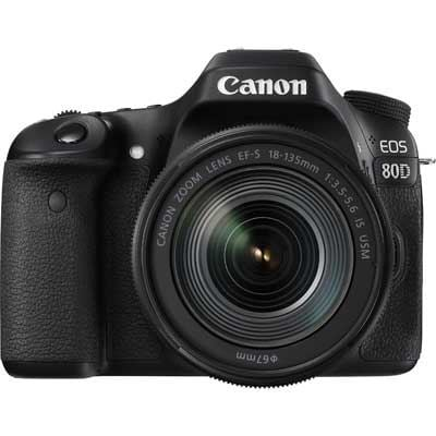 Canon EOS 80D Digital SLR Camera with 18135mm IS USM Lens