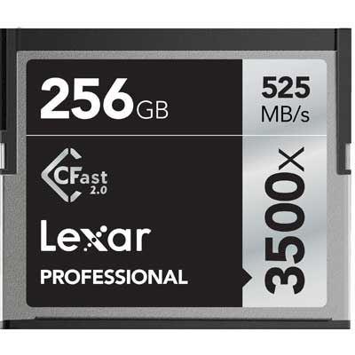 Image of Lexar 256GB 3500x (525MB/Sec) Professional CFast 2.0 Card