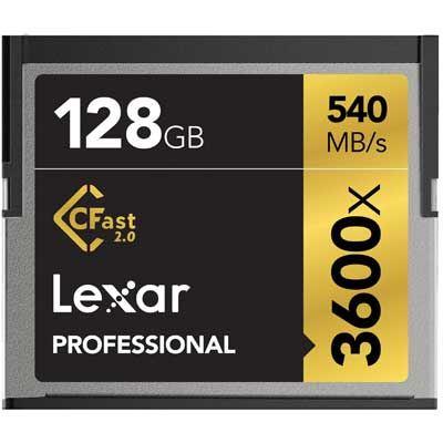 Image of Lexar 128GB 3600x (540MB/Sec) Professional CFast 2.0 Card
