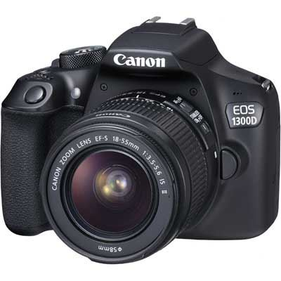 Image of Canon EOS 1300D Digital SLR Camera with 18-55mm IS II Lens