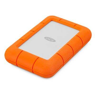 Image of LaCie Rugged Mini 4 TB 2.5 external hard drive USB 3.2 Gen 1 (USB 3.0) Silver, Orange 9000633