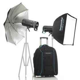 Used Broncolor Siros 400 L WiFi / RFS2 Outdoor Twin Head Kit 2