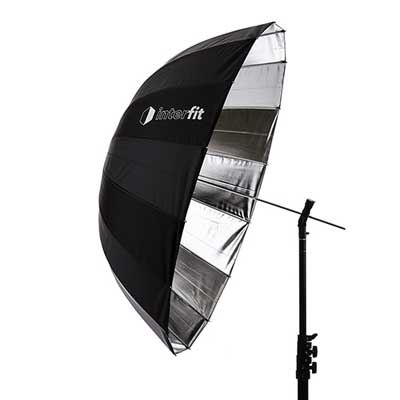 Interfit 40 inch Silver Parabolic Umbrella