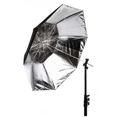 Interfit 43 inch Tri-Fold Silver Umbrella